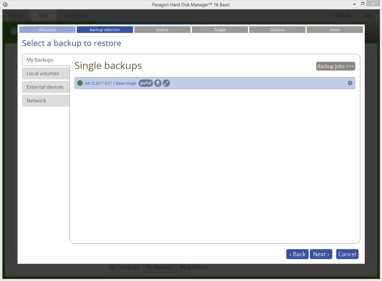 how to use paragon backup and recovery